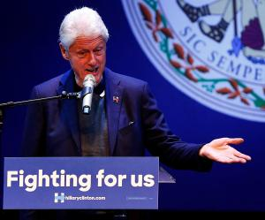 Bill Clinton speaks at the Hippodrome Feb. 24, 2016